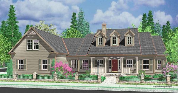 Front Elevation Bonus Rooms : House front color elevation view for colonial