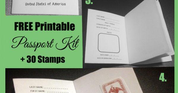 free printable passport stamp activity