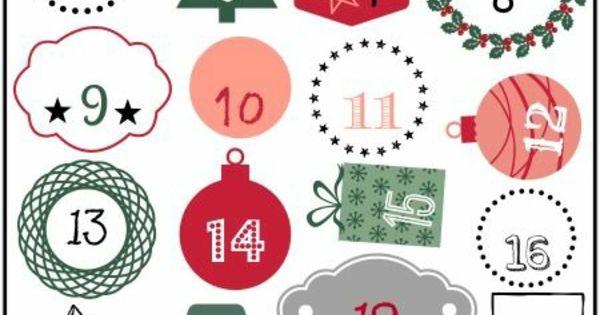 adventskalender selber basteln vorlage mit nummern   Advent ...