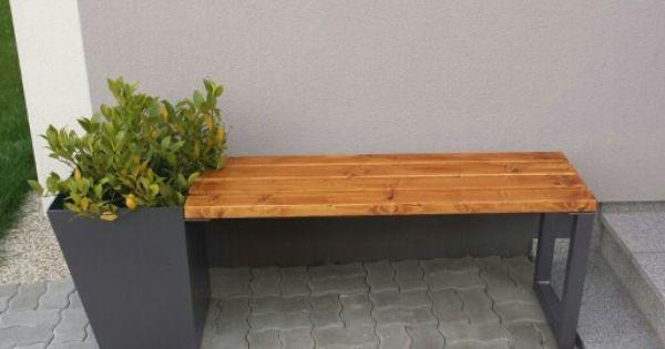 2017 Gartenbank Modern Stahl