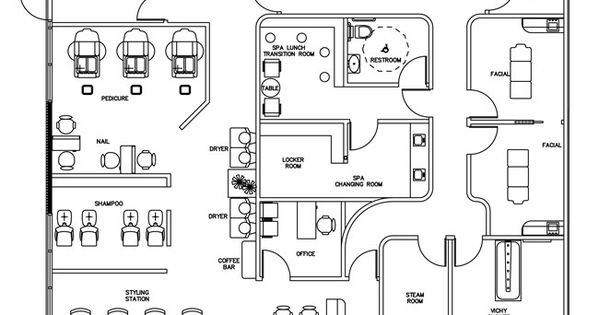 Beauty Salon Floor Plan Design Layout 3375 Square Foot Future