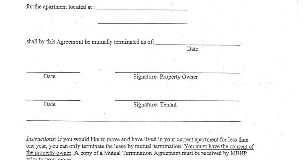 Letter Breaking Lease Agreement And Early Termination Images