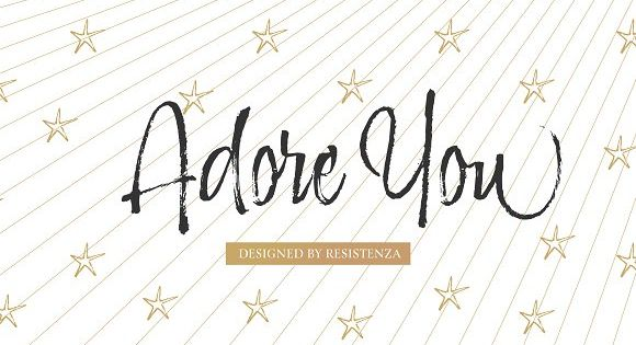 Adore You 50% off by Rsz Type Foundry