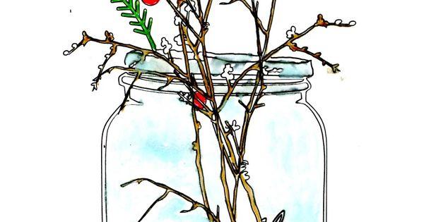 Twigg studios: FREE christmas mason jar clip art