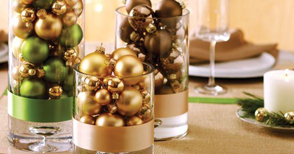 Bol de vidrio con bolas de navidad buscar con google - Bol de vidrio ...