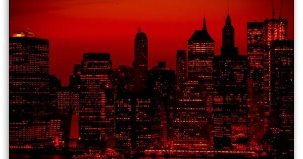 Red Sky At Night New York City Hd Desktop Wallpaper Widescreen High Definition Fullscreen Mobile Dual Monitor City Wallpaper Red Sky Sky Aesthetic