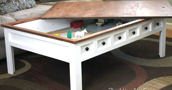 Apothecary Style Coffee Table With Hidden Lego And Train Play Areas Style Apothecaries And To