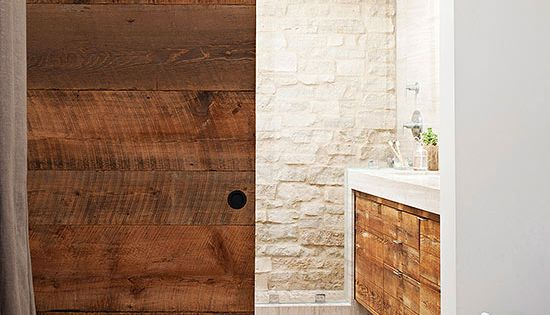 Country cottage bathroom ideas sliding barn doors - Sliding barn door bathroom vanity ...