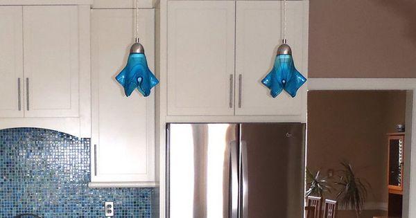 Turquoise Blue Med Kitchen Island Pendant Lights