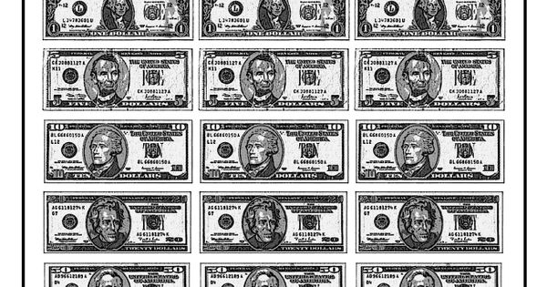 Unforgettable image in printable paper money