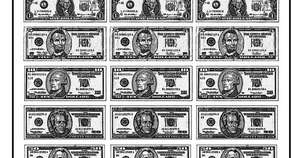 Adaptable image inside printable paper money