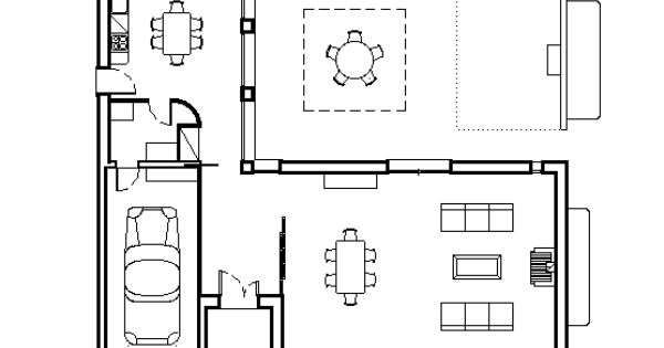 Maison avec patio central plan maison pinterest - Maison avec patio central ...