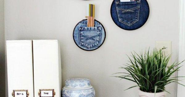 alte jeans verwerten basteln taschen stickring stauraum ideen zum selbermachen pinterest. Black Bedroom Furniture Sets. Home Design Ideas