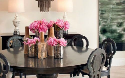 Dreamy Dining Room Centerpiece Peonies Decorista