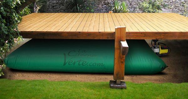 r cup rateur d 39 eau de pluie souple 3000l rectangle. Black Bedroom Furniture Sets. Home Design Ideas