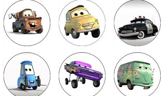 CARS Edible Cupcake Toppers 12 Disney Pixar Cars Edible Images For Cupcakes, Cookies, Cake