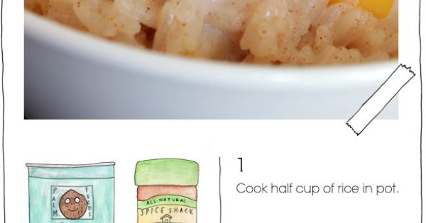 Peach Rice Pudding | Easy Dinner Ideas | I ♥ Delicious Food