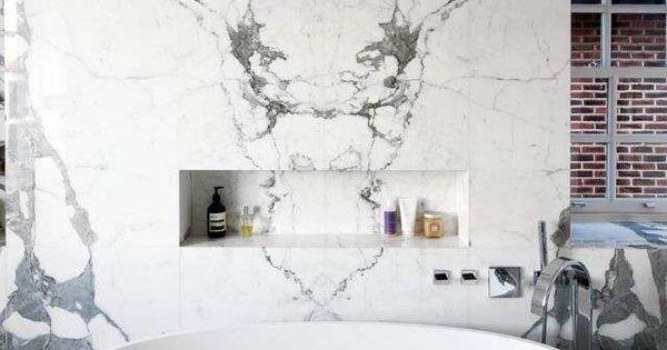 badkamer marmer  Interieurinspiratie  Pinterest