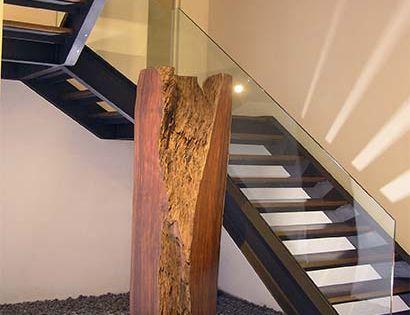 Barandilla en vidrio para escalera interior casa for Barandillas escaleras interiores precios