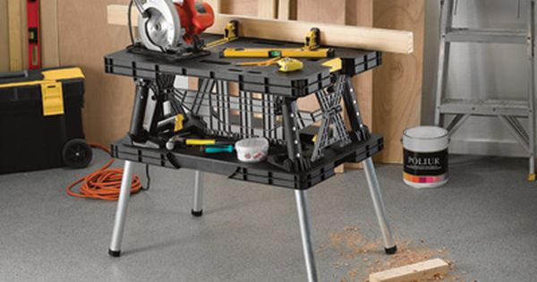 Keter Folding Work Table 151 33 1 2in L X 21 3 4in W X 29 3 4in H Model 35 17182239 Portable Workbench Work Table Keter Folding Work Table