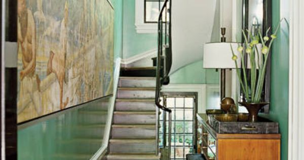Steven Gambrel West Village Home Interior Design - ELLE DECOR. LOVE the