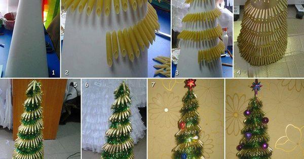 Rbol de navidad hecho en casa con pasta despierta tu - Arbol de navidad hecho en casa ...