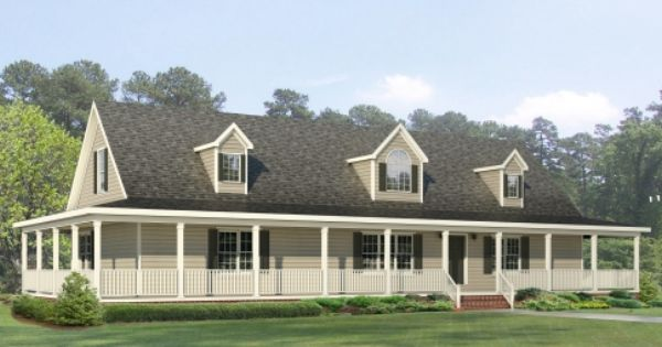 The Jamestown Rb508a Rockbridge Modular Home A Cape Roof And An On Site Wrap Around Porch
