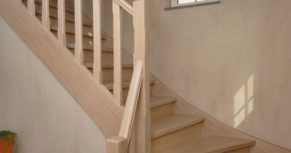 Landelijke houten trap op maat van trappen teck puurs landelijke trappen - Houten trap interieur ...