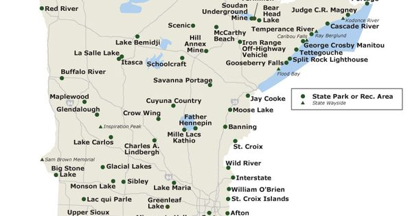 Map of MN state parks We plan to do them all – Mn Travel Map