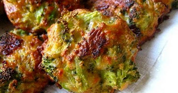 Broccoli Cheese Balls: Broccoli, Cheese, Eggs, Bread Crumbs. Mix and bake 20