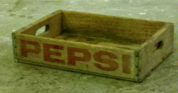Vintage signed pepsi wood bottle crate cola soda pop old for Wooden soda crate ideas