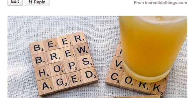 What a cute idea! Great coasters for word nerds!