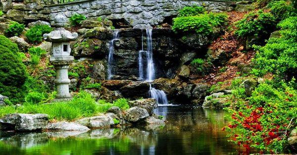 Cascade bassin de jardin en 18 id es de conception d co et design - Cascade de jardin castorama lyon ...