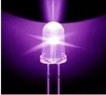 100pcs Lot 5mm White Led Bright Purple Led Uv Money Detector Light