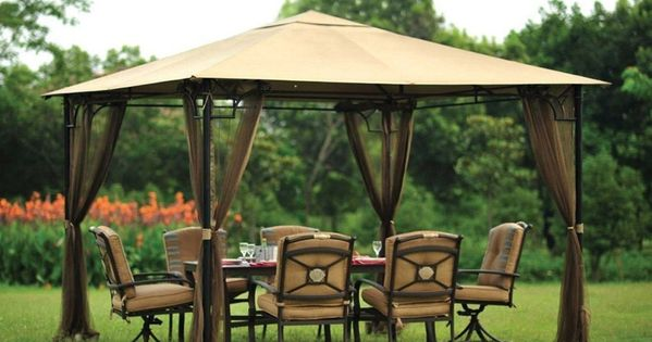 Do It Yourself Home Design: Metal Waterproof Gazebo With Sides
