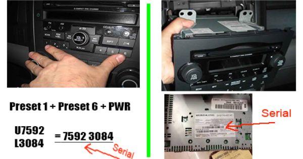 Honda Crv Radio Code Honda Crv Radio Honda