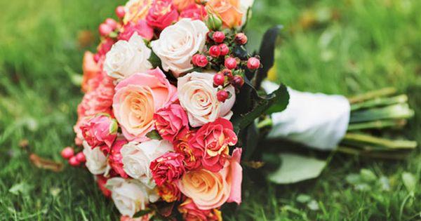 Summer bouquet - Bridal bouquet of various flowers.