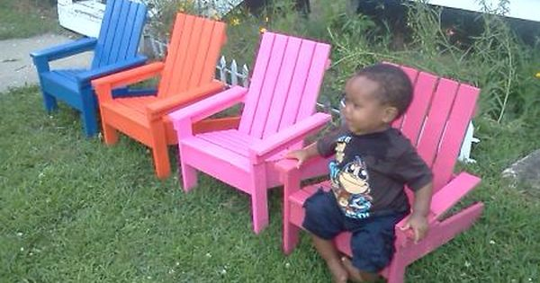 Diy Instructions For Kid S Adirondack Chairs These Are