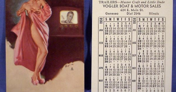 Pin Up Calendars 1958 1958 Pinterest Calendar