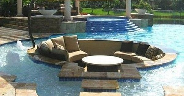 Recessed Lounge Area Giving those who want to stay dry an option