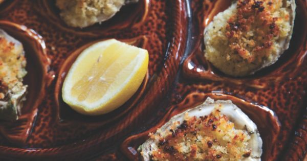 GARLICKY BAKED OYSTERS: The presentation alone of these baked oysters on the