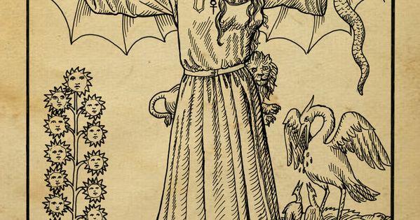 medieval alchemy tarot heraldry Alchemy woodcut abrac ad ...