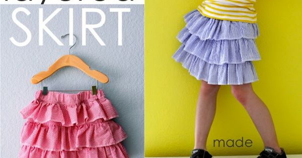Layered Ruffle Skirt and how to sew other kids clothes