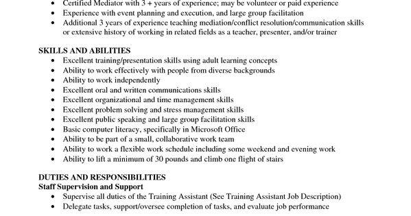 Training Coordinator Resume Cover Letter Training