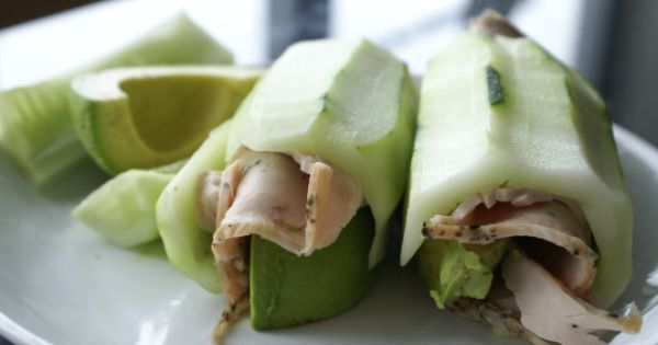 Cucumber, turkey, and avocado roll - Paleo lunch ideas
