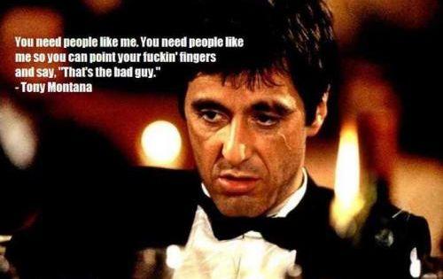 Scarface - You need people like me. Tony Montana | real ... | 600 x 315 jpeg 25kB