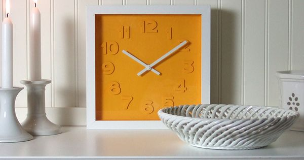 Make your own Embossed Numbers Wall Clock