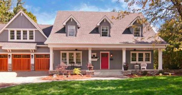 Cape Cod Style Home Garage Door Color Matching Front