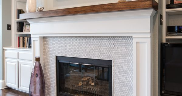 White Marble Fireplace with Hexagon Pattern. | Our ...
