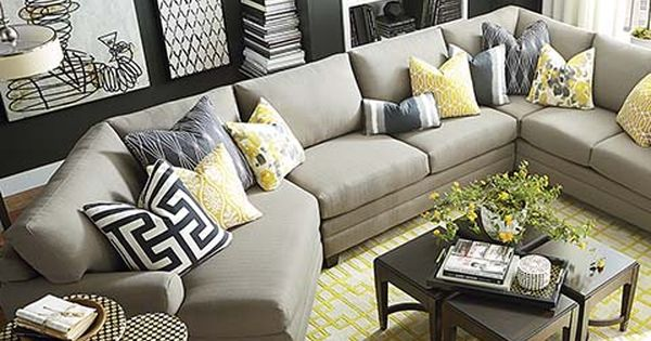 Left Cuddler Sectional  living room ideas  Pinterest  거실, 집안 꾸미기 및 ...